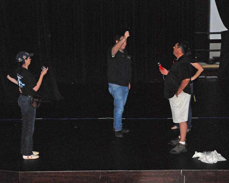 A dowsing session on stage at MPAC